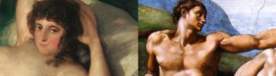 pintura majo y maja
